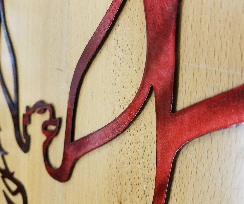 Firebird logo metal wall art plasma cut sign gift idea trans am ...