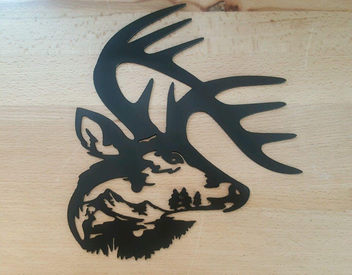 Whitetail Deer Antler Metal Wall Art Plasma Cut Gift Idea