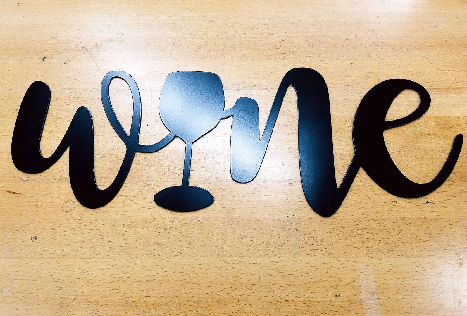 Wine sign metal wall art plasma cut home decor gift idea ...