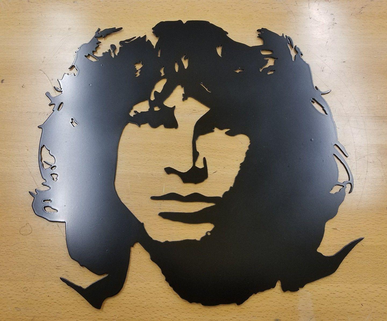 Jim Morrison Metal Wall Art Plasma Cut Home Decor Gift Idea The