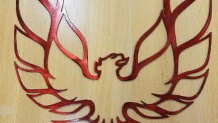 Firebird logo metal wall art plasma cut sign gift idea trans am pontiac