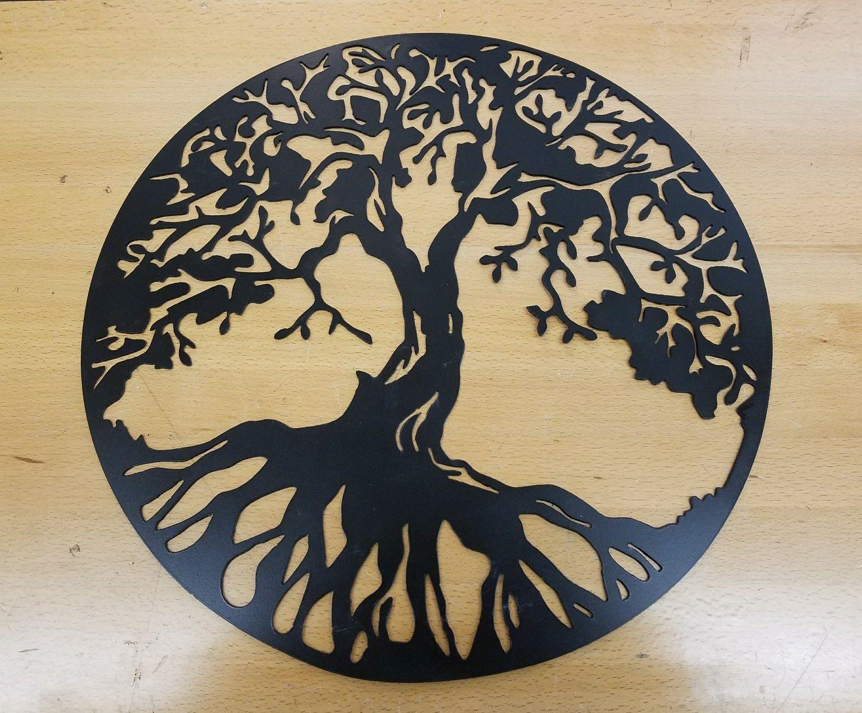 Tree of life metal wall art plasma cut decor gift idea mother\'s day ...