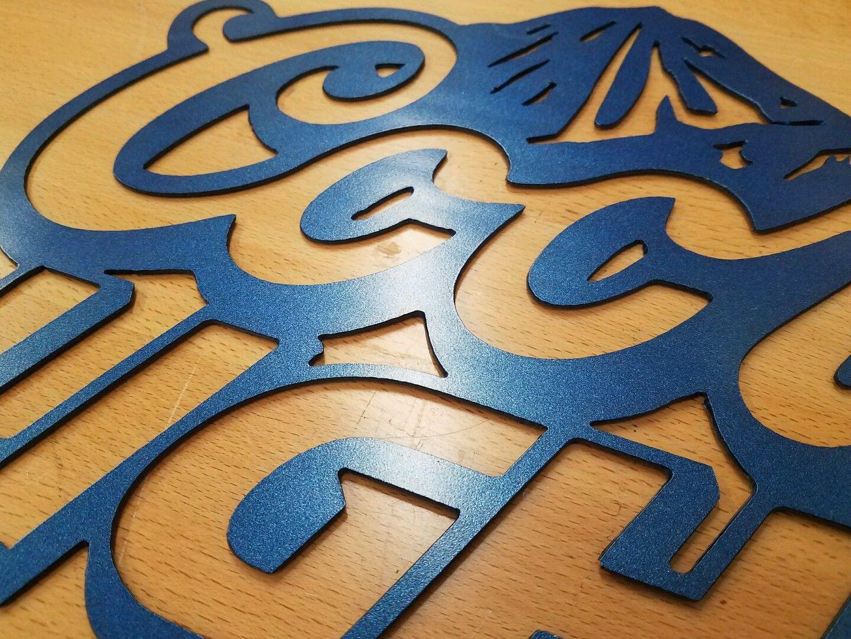 Coors Light sign metal wall art plasma cut decor gift idea