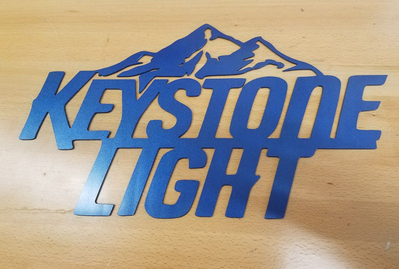 Xl Keystone Light Sign Metal Wall Art Plasma Cut Sign Gift