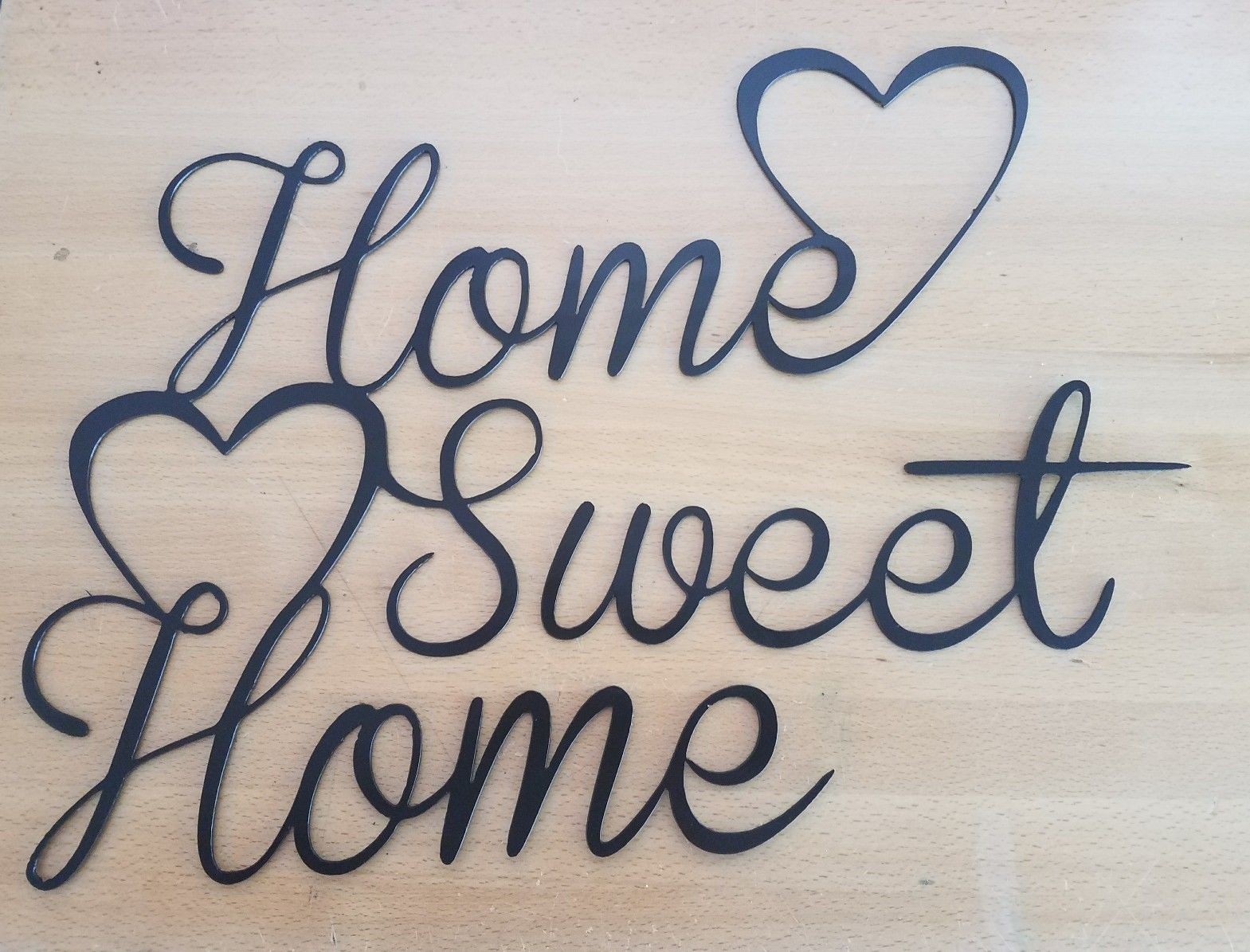 Home Sweet Home Metal Wall Art Plasma Cut Decor Gift Idea Gas Pro Shop Fabrication