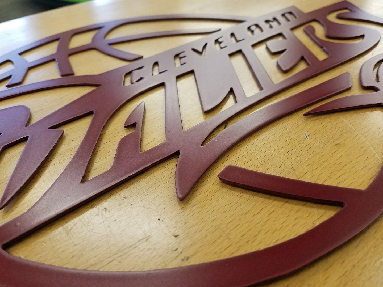 on sale 74702 6fa60 Cleveland Cavaliers metal wall art plasma cut gift idea decor