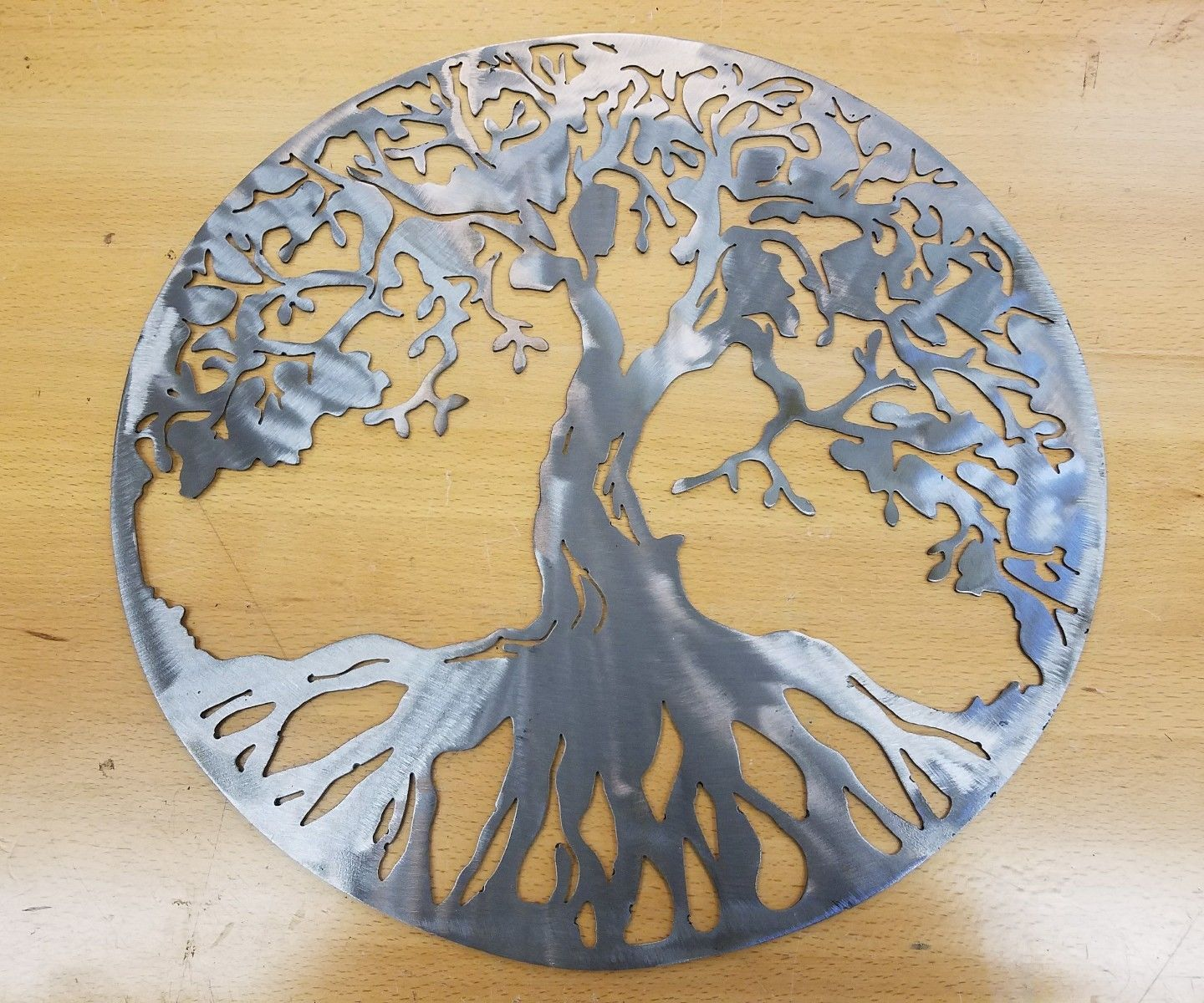 Tree of life metal wall art plasma cut decor gift idea mother\'s day ...